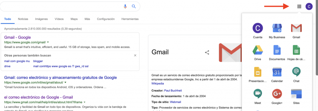 Iniciar sesion Google My Business