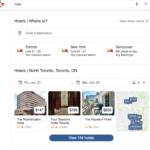 Nuevo formato de local pack para hoteles