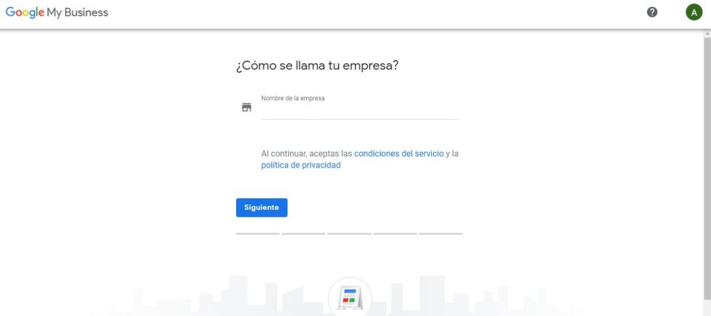 Nombre de empresa en Google My Business