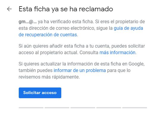 ficha reclamada en google my business