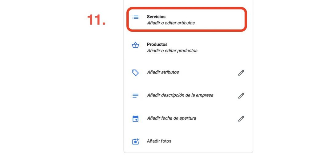 servicios en google my business