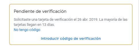 verificación pendiente en google my business