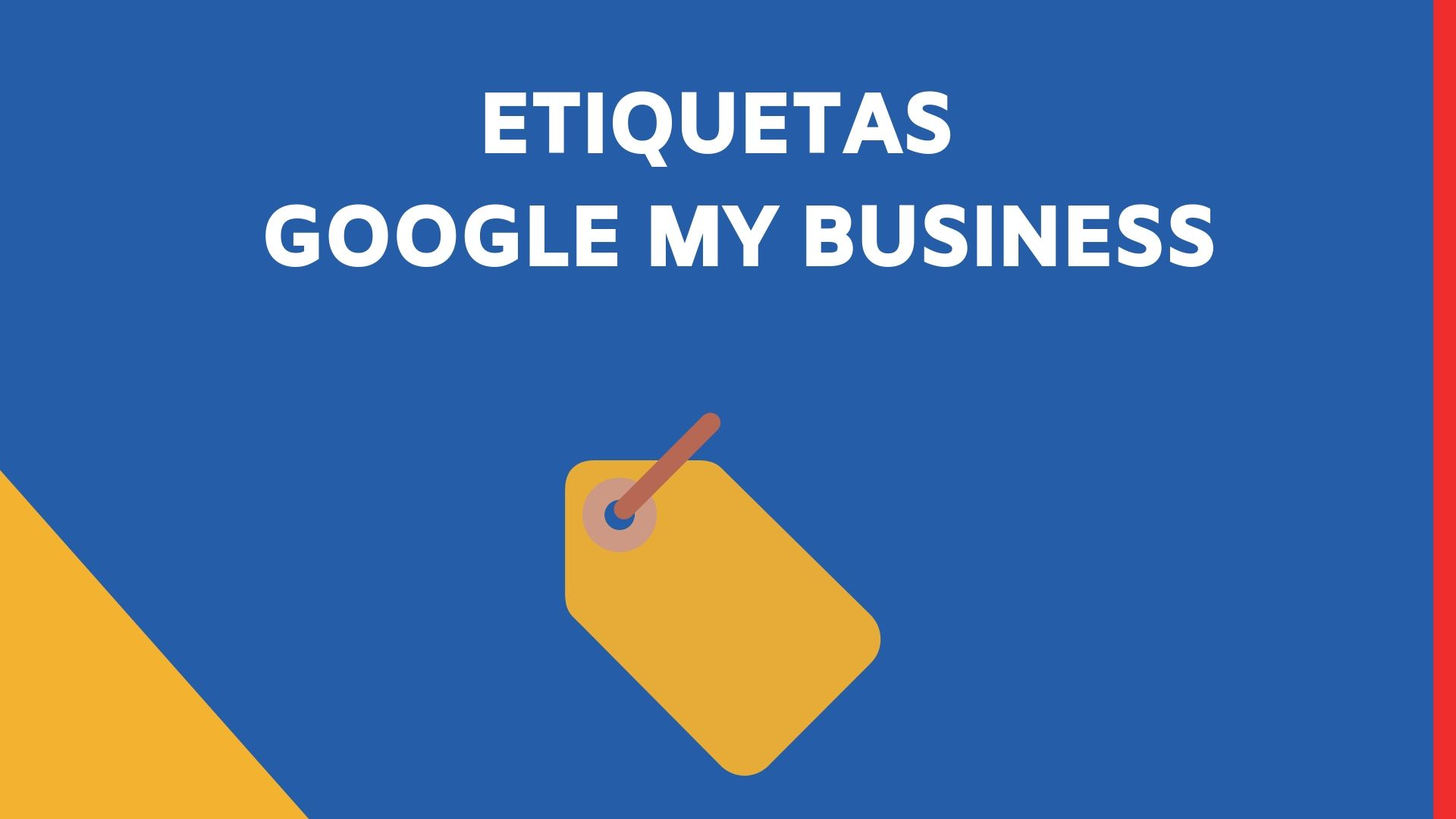 Etiquetas de Google My Business