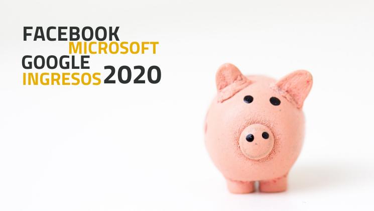 Ingresos de Google, Facebook y Microsoft en el 2020