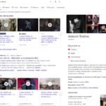 Résultats de recherche sur Google : Le panneau de connaissances