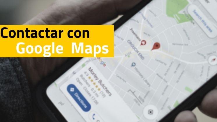 Como contactar google maps